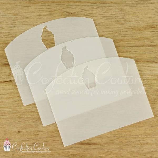 Cookie Stencil Scrapers 3 Pc Set Accessories
