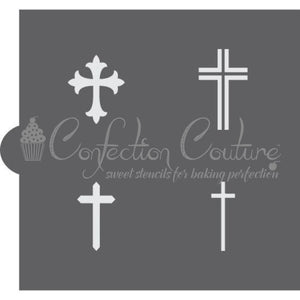 Crosses Accent Cookie Stencil Accents