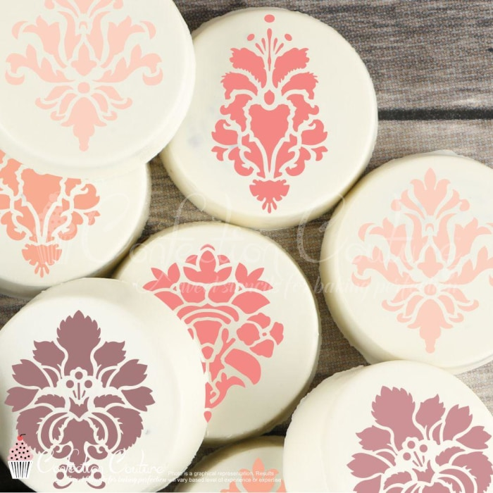 Damask Accent Cookie Stencil Accents
