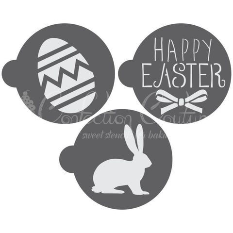 Easter Round Cookie Stencil 3 Pc Set