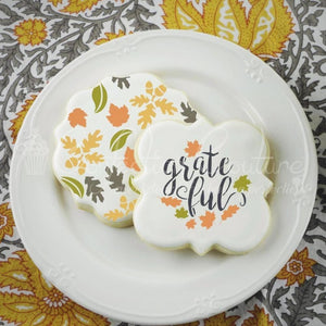 Fall Leaves Background Cookie Stencil Background