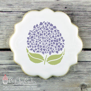 French Hydrangea Accent Cookie Stencil Accents