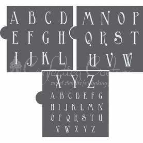 Ginger Snap Alphabet Cookie Stencil Set Alphabet