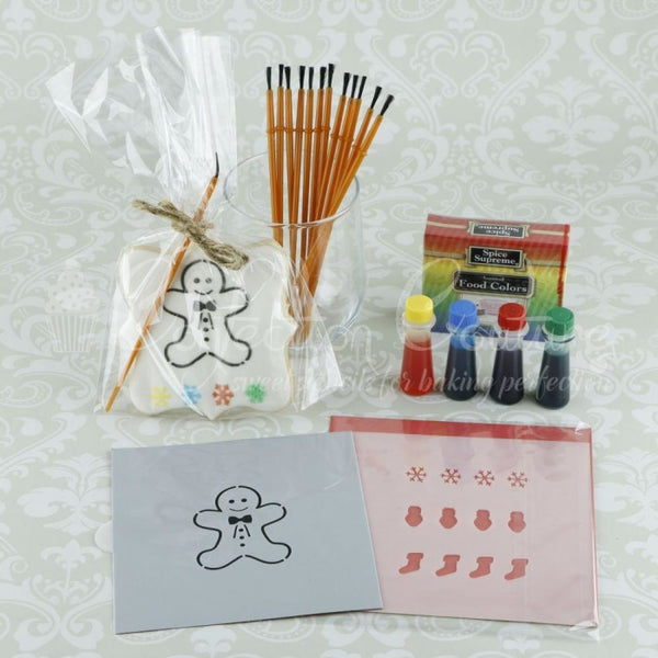 Gingerbread Paint Your Own Cookie Stencil Kit