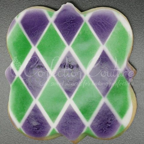 Harlequin Background Cookie Stencil Background