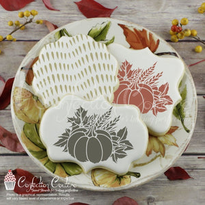 Harvest Bouquet Accent Cookie Stencil Accents