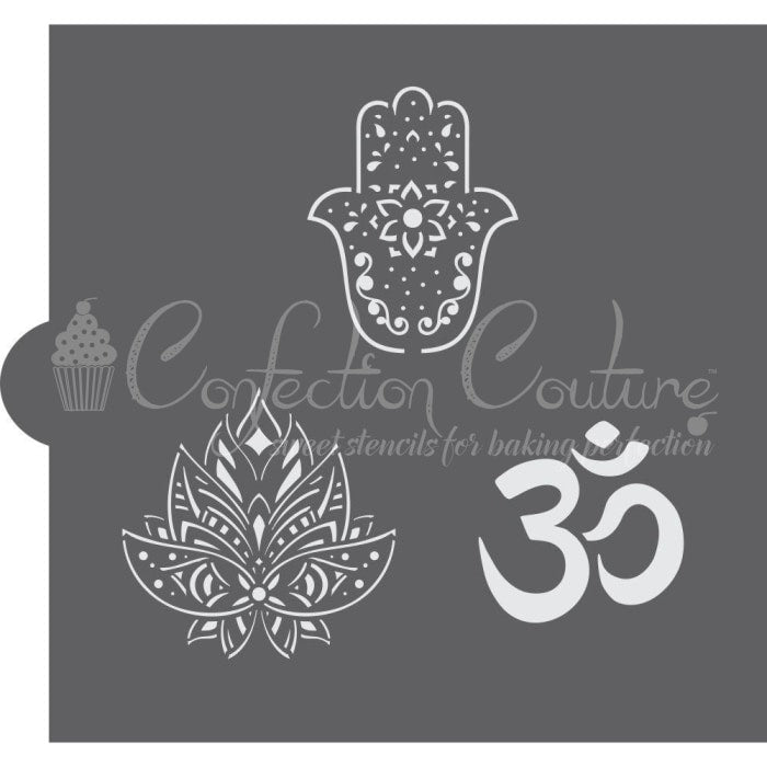 Hindu Symbols Accent Cookie Stencil Accents