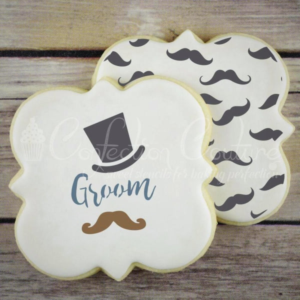 Hipster Boy Accent Cookie Stencil Accents