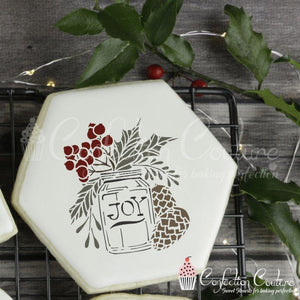 Holiday Jar Accent Cookie Stencil Accents