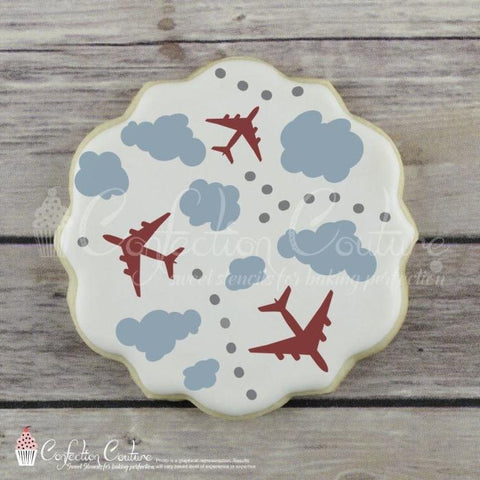 In The Clouds Background Cookie Stencil
