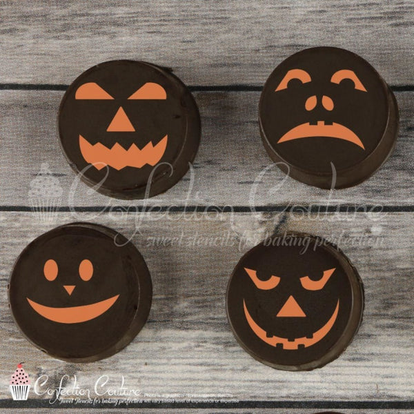 Jack O Lantern 1 Accent Cookie Stencil Accents