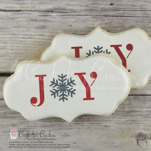 Joy Message Cookie Stencil Words