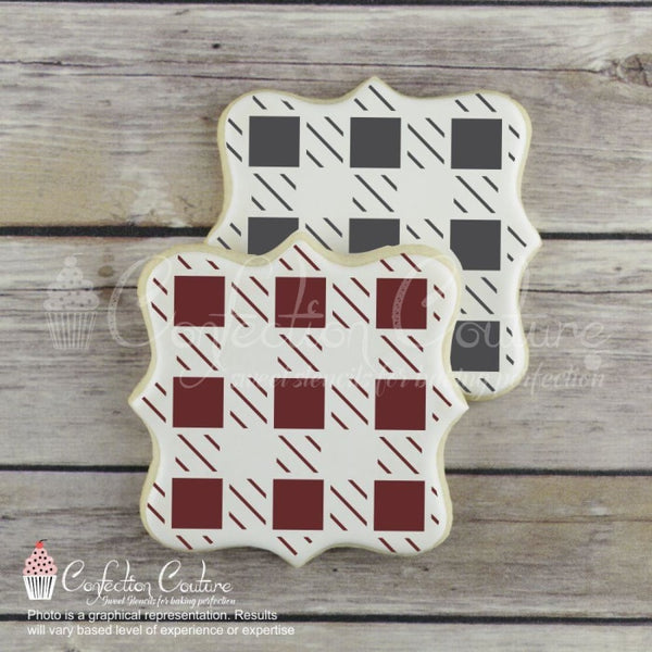 Large Buffalo Plaid Background Cookie Stencil Background