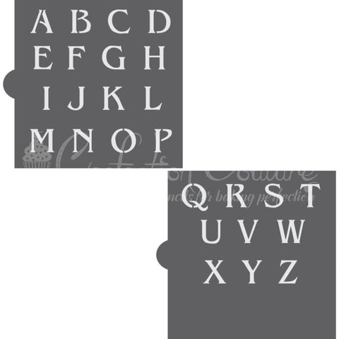 Linzer Monogram Basic Alphabet Cookie Stencil Set Alphabet