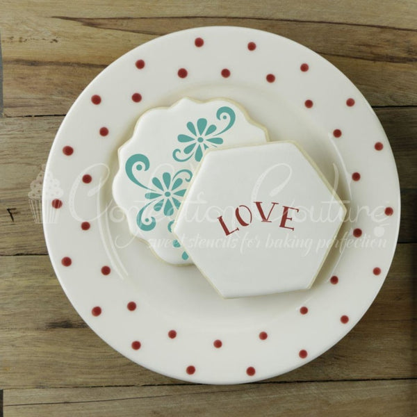 Love Birds Accent Cookie Stencil Accents