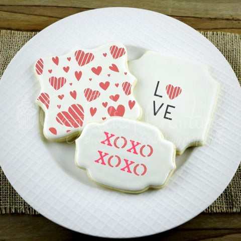 Love Words Cookie Stencil Words