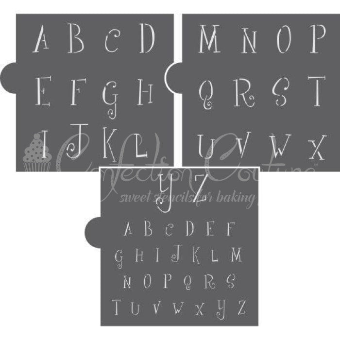 Marshmallow Alphabet Cookie Stencil Set Alphabet