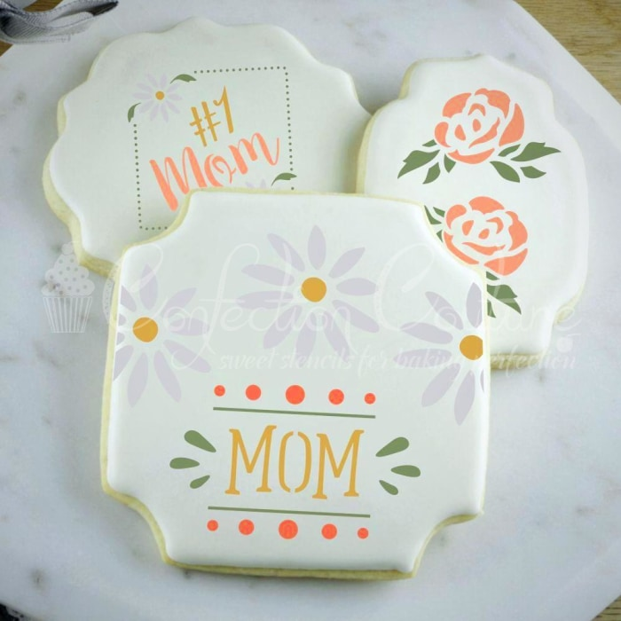 Mothers Day Words Cookie Stencil Words