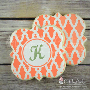 Nador Monogram Background Cookie Stencil Background