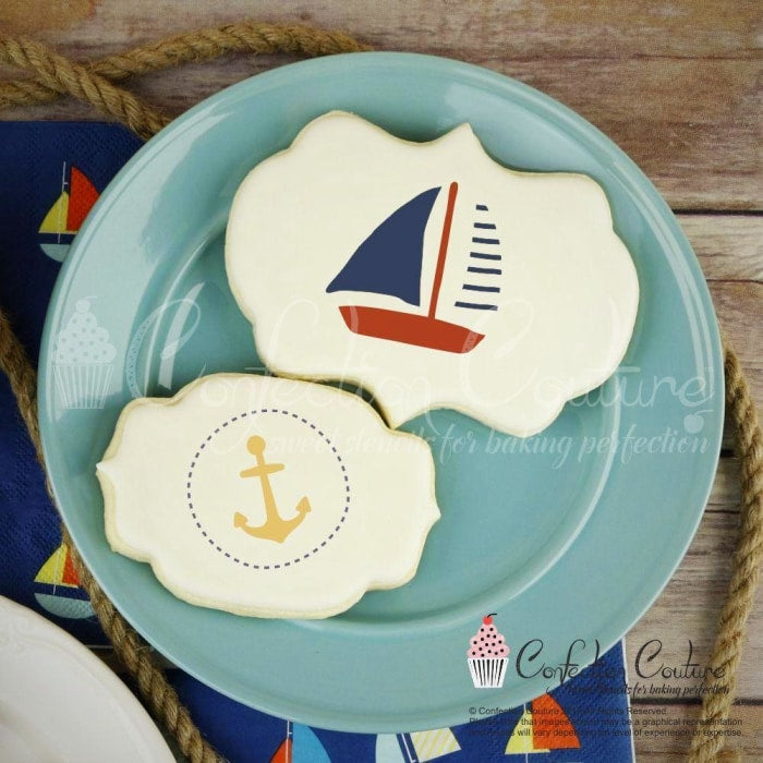 Nautical Round Cookie Stencil 3 Pc Set