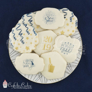 New Years Eve Accent Cookie Stencil Accents