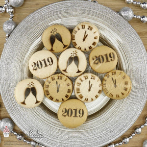 New Years Eve Round Cookie Stencil 3 Pc Set