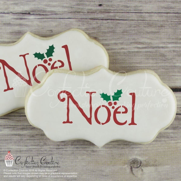 Noel Message Cookie Stencil Words