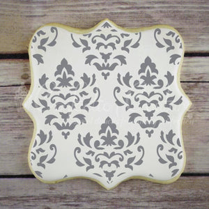 Palermo Damask Background Cookie Stencil Background