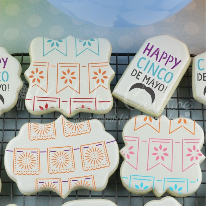 Papel Picado Cookie Stencil Background