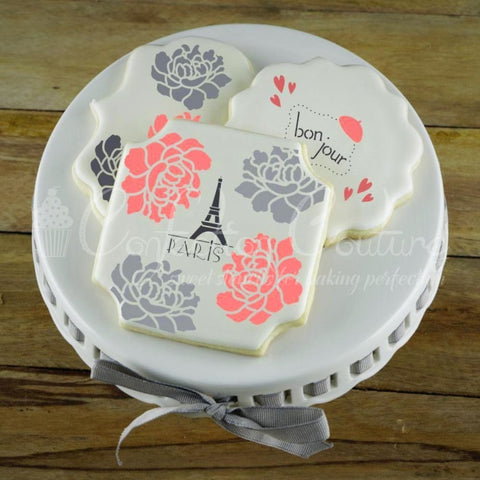 Paris Style Accent Cookie Stencil Accents
