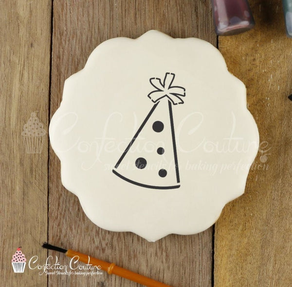Party Hat Paint Your Own Cookie Stencil Pyo