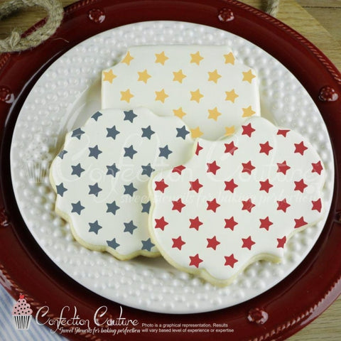 Patriotic Stars Background Cookie Stencil Background