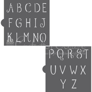 Petite-Beurre Monogram Basic Alphabet Cookie Stencil Set Alphabet