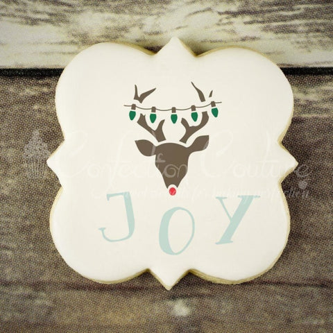 Reindeer Accent Cookie Stencil Accents