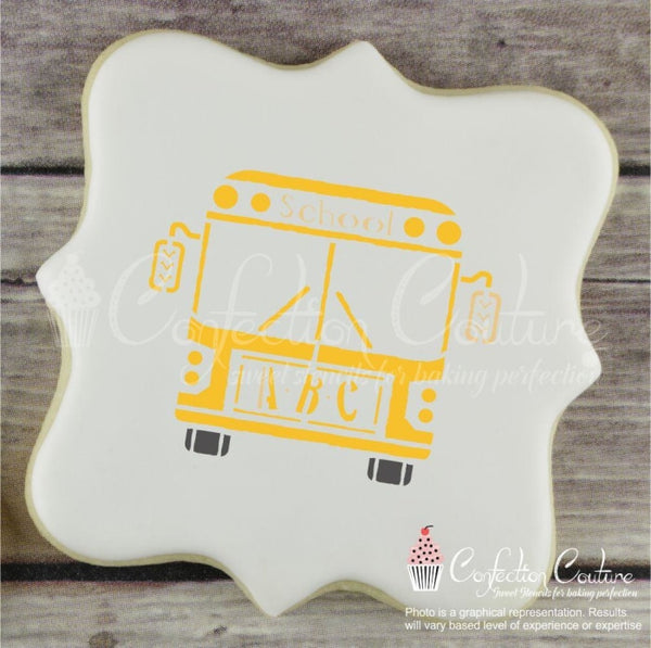 School Bus Accent Cookie Stencil Accents