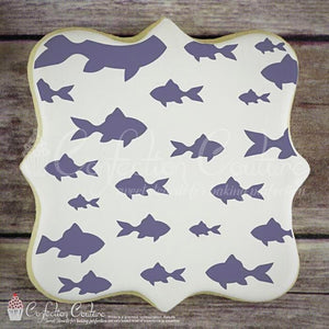 School Of Fish Background Cookie Stencil Background