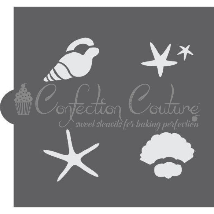 Seashells Accent Cookie Stencil Accents