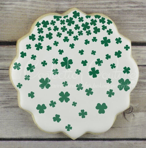 Shamrock Shower Background Cookie Stencil Background