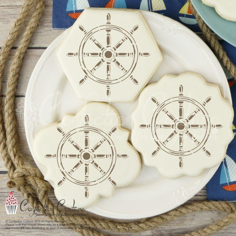 Ships Wheel Accent Cookie Stencil Accents