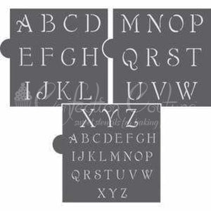 Simple Script Alphabet Cookie Stencil Set Alphabet