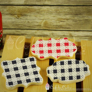 Small Buffalo Plaid Background Cookie Stencil Background