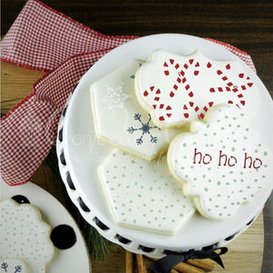Snowfall Basic Background Cookie Stencil Background