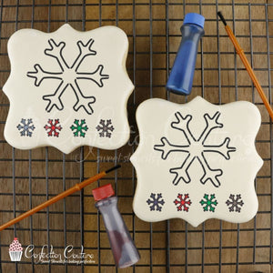 Snowflake Paint Your Own Cookie Stencil Pyo