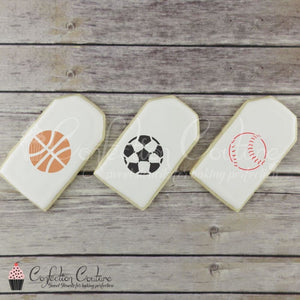Sports Accent Cookie Stencil Accents