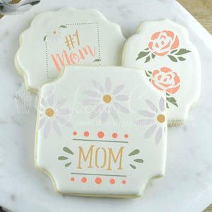 Spring Flowers Accent Cookie Stencil Accents