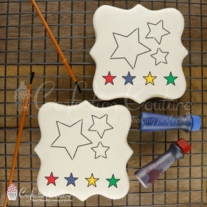 Stars Paint Your Own Cookie Stencil Pyo