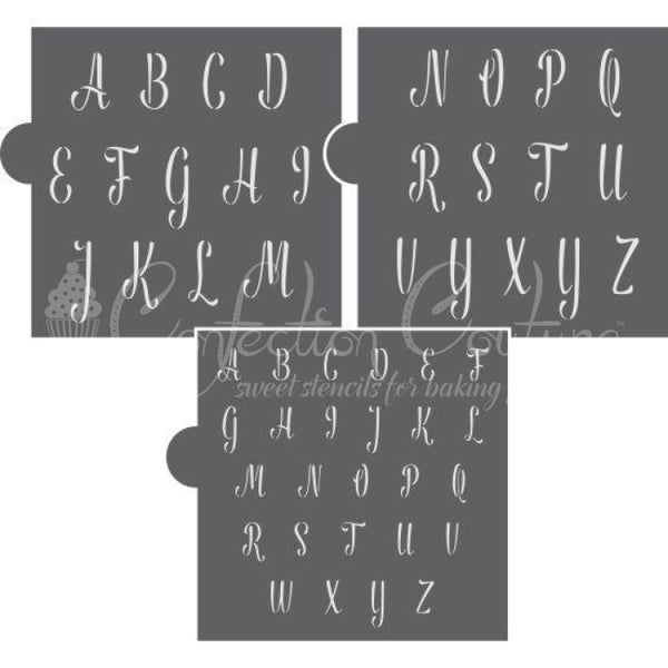 Swizzle Stick Alphabet Cookie Stencil Set Alphabet