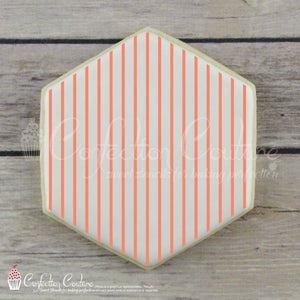 Thin Stripe Background Cookie Stencil Background