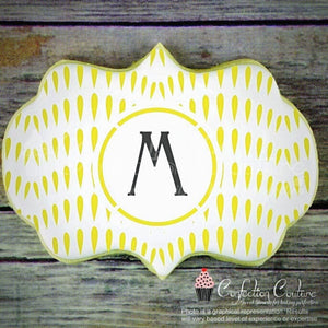 Thistle Seed Monogram Background Cookie Stencil Background