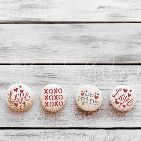 Valentines Round Cookie Stencil 3 Pc Set